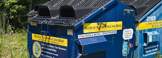 TT&E Community Aluminum Can Recycling Bins Raleigh NC
